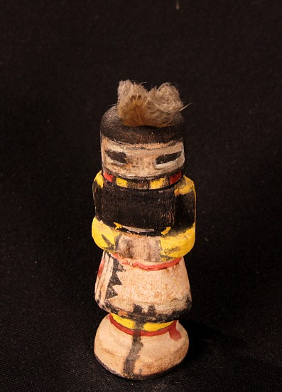 "05 - Kachinas and Dolls, Antique Hopi Kachina: Corn Maiden, Route 66 Style (5.5"") c. 1940-1950, Hand Carved and Painted Cottonwood Root"