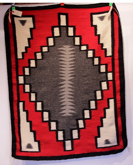 "01 - Navajo Textiles, Navajo Rug: Klagatoh rug, soft handle, excellent for wall or on furniture 51""x39"", c 1960s 1960s"