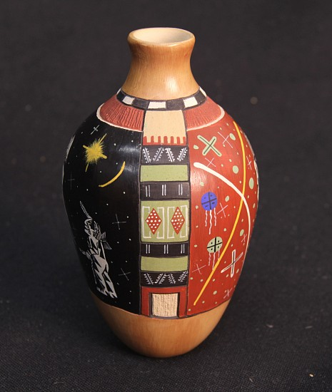 "03 - Pueblo Pottery, REDUCED! Extraordinary example --I Am The One-- 6"" ht Hopi Pot by Lawrence Namoki"