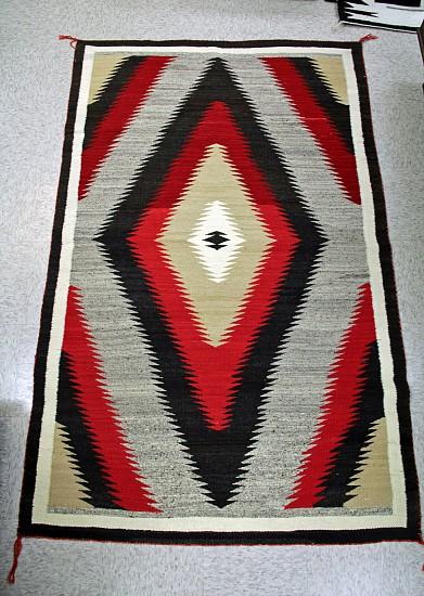 """01 - Navajo Textiles, Stunning LARGE 1920s Ganado 48"""" x 76"""" -Great wool, weave, conditon 1920, Handspun wool"""