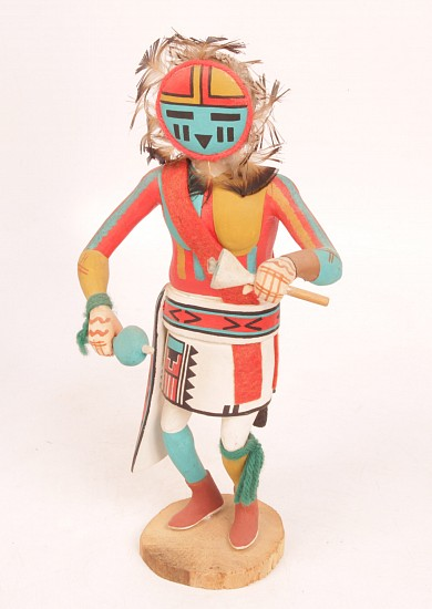 "05 - Kachinas and Dolls, Kachina by Stacy Talahytewa: Sun (12"")"